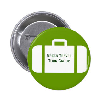 Suitcase On A Group Travel Name Tag Badge Pinback Button