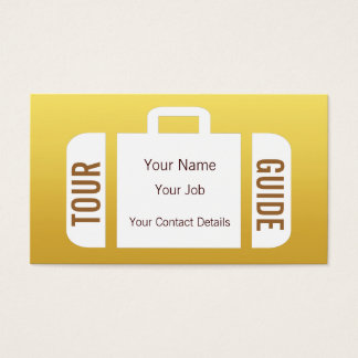 Suitcase Travel Agent Tour Guide Business Card
