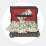 SuitcaseMoney080409 Pegatina Redonda
