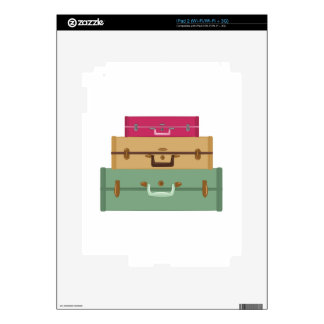 Suitcases Decal For iPad 2