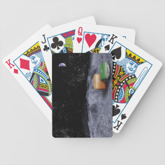 Suitcases on the Moon Bicycle Playing Cards