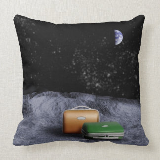 Suitcases on the Moon Pillow