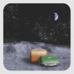 Suitcases on the Moon Stickers