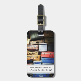 Suitcases Photograph Tag For Bags