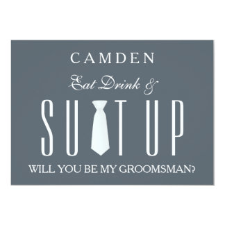 Suitup Will you be my groomsman Card
