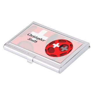 Suiza #1 cajas de tarjetas de presentación