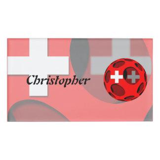 Suiza #1 etiqueta con nombre