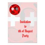 Suiza #1 invitación 12,7 x 17,8 cm