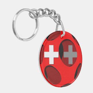 Suiza #1 llavero redondo acrílico a doble cara