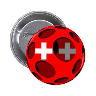 Suiza #1 pin redondo de 2 pulgadas