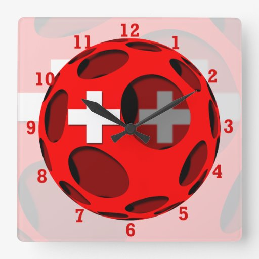 Suiza #1 reloj cuadrado