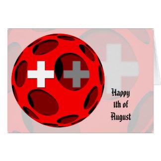 Suiza #1 tarjeta de felicitación