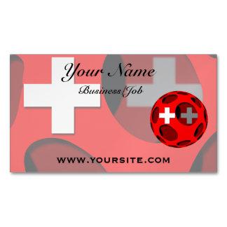 Suiza #1 tarjetas de visita magnéticas (paquete de 25)
