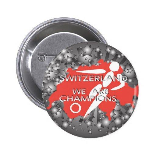 Suiza 2010 pin redondo 5 cm