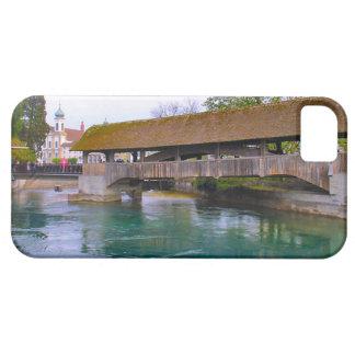 Suiza, Alfalfa, puente de madera medieval iPhone 5 Funda