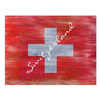 Suiza apenó la bandera suiza postales