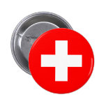 Suiza - bandera suiza pin redondo 5 cm