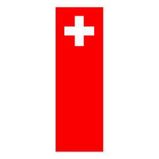 Suiza - bandera suiza tarjetas de negocios