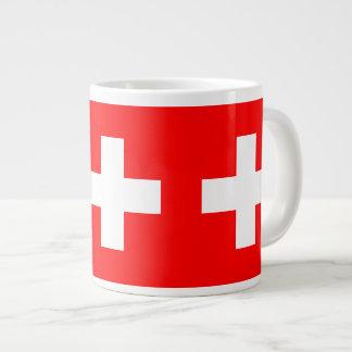 Suiza - bandera suiza taza jumbo