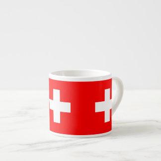 Suiza - bandera suiza tazas espresso