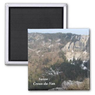 Suiza: Creux-du-Van - Imán Cuadrado