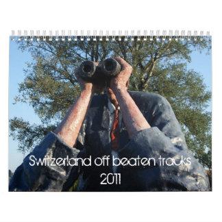 Suiza de pistas batidas calendarios