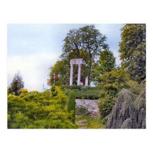 Suiza, el lago Lemán, Nyon, romano permanece Tarjeta Postal