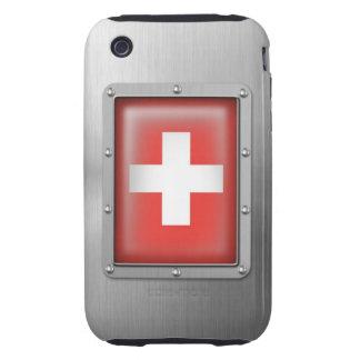 Suiza en acero inoxidable carcasa though para iPhone 3