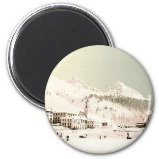 Suiza en invierno imán para frigorifico