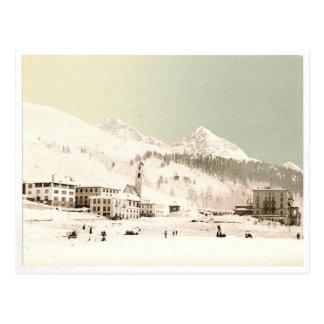 Suiza en invierno postal