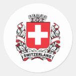 Suiza Etiquetas Redondas
