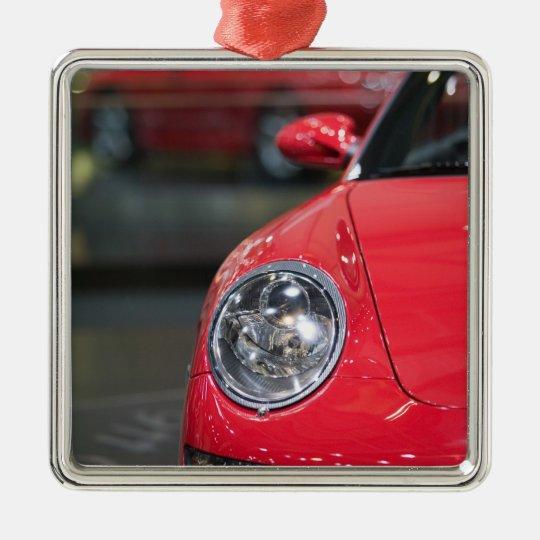 SUIZA, GINEBRA: 75.o Auto anual 8 de Ginebra Adorno Navideño Cuadrado De Metal