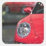 SUIZA, GINEBRA: 75.o Auto anual 8 de Ginebra Calcomanías Cuadradass Personalizadas