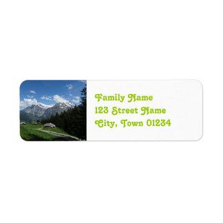 Suiza gloriosa etiquetas de remite