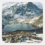 Suiza, Grindelwald, montañas de Bernese, visión Pegatina Cuadrada
