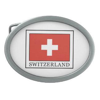 Suiza Hebilla Cinturón Oval