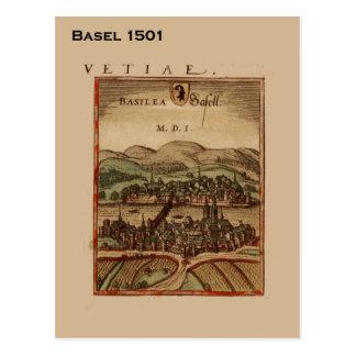 Suiza histórica, Basilea 1501 Postales