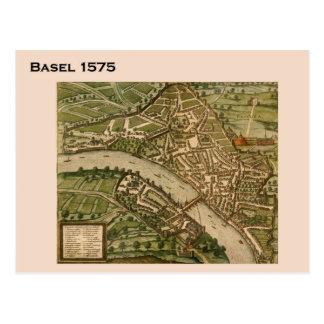 Suiza histórica, Basilea 1575 Postal