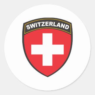 Suiza Etiqueta Redonda