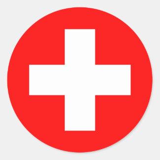Suiza Pegatina Redonda