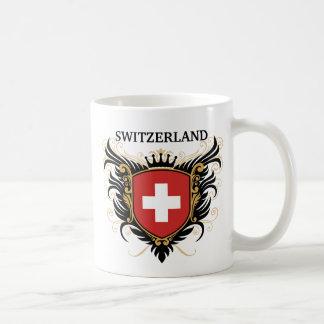 Suiza [personalice] taza básica blanca