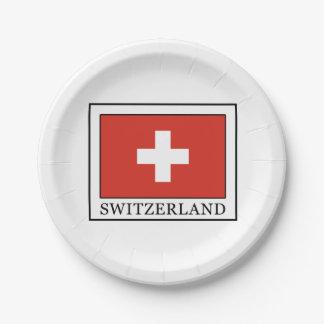 Suiza Platos De Papel