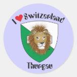 Suiza Suisse Svizzera Svizra Switzerland pegamento Pegatinas Redondas