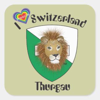 Suiza Suisse Svizzera Svizra Switzerland pegamento Calcomania Cuadradas Personalizadas
