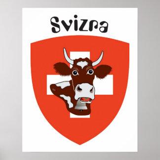 Suiza Suisse Svizzera Svizra Switzerland Poster