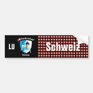 Suiza Svizzera Suisse Luzern pegatina de automóvil Pegatina Para Auto