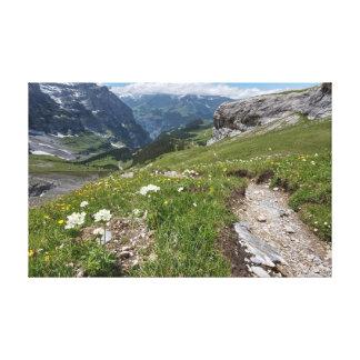 Suiza - valle de Lauterbrunnen - lona Lona Estirada Galerías
