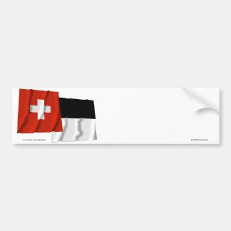 Suiza y banderas que agitan de Fribourg Pegatina Para Auto