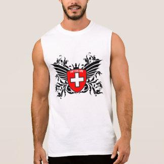 Suizo escudo de armas con ala remera sin mangas