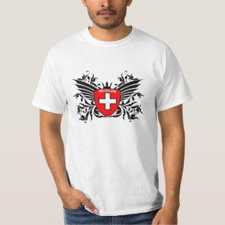 Suizo escudo de armas con ala remeras